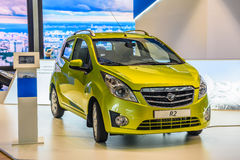 MOSCOW - AUG 2016: Ravon R2 presented at MIAS Moscow International Automobile Salon on August 20, 2016 in Moscow, Russia Stock Photos