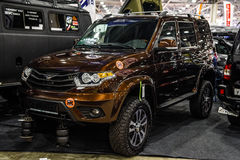 MOSCOW - AUG 2016: UAZ-3163 Patriot presented at MIAS Moscow International Automobile Salon on August 20, 2016 in Moscow, Russia Royalty Free Stock Photography