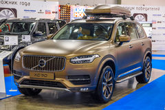 MOSCOW - AUG 2016: Volvo XC-90 presented at MIAS Moscow International Automobile Salon on August 20, 2016 in Moscow, Russia stock images