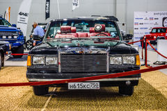 MOSCOW - AUG 2016: ZIL 41041 cabrio presented at MIAS Moscow International Automobile Salon on August 20, 2016 in Moscow, Russia Royalty Free Stock Photo