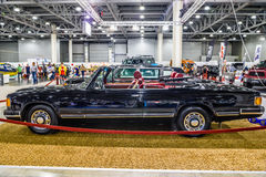 MOSCOW - AUG 2016: ZIL 41041 cabrio presented at MIAS Moscow International Automobile Salon on August 20, 2016 in Moscow, Russia Royalty Free Stock Images