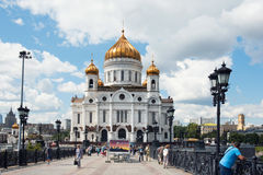 MOSCOW - August 04, 2016: Cathedral of Christ the Saviour. Mosco Stock Photography