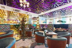 MOSCOW - AUGUST 2014: Interior Asian restaurant Royalty Free Stock Image