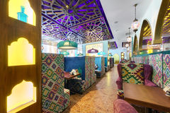 MOSCOW - AUGUST 2014: Interior Asian restaurant Royalty Free Stock Images