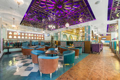 MOSCOW - AUGUST 2014: Interior Asian restaurant Stock Photography