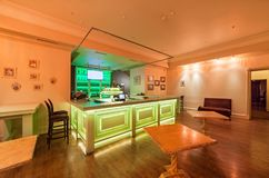 MOSCOW - AUGUST 2014: Interior of the restaurant of Georgian and European cuisine - Royalty Free Stock Photography