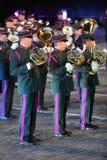 Belgisk kunglig orkester på den militära musikfestivalen Royaltyfria Foton