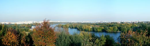 Moscow autumn panorama Stock Photography