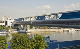 Moscow, Bagrationovskiy bridge Royalty Free Stock Images