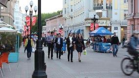 moscow Bandeiras ucranianas vídeos de arquivo