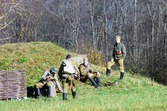 Moscow battle historical reenactment Royalty Free Stock Photos