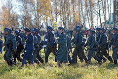 Moscow battle historical reenactment Royalty Free Stock Photography