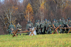 Moscow battle historical reenactment Royalty Free Stock Photo