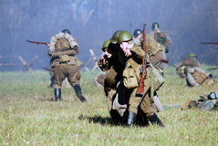 Moscow battle historical reenactment Stock Photo
