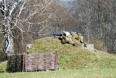 The Moscow battle reenactment Stock Images