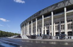 Moscow big sports arena Stadium Luzhniki Olympic Complex -- Stadium for the 2018 FIFA World Cup in Russia.  stock photos