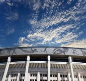 Moscow big sports arena Stadium Luzhniki Olympic Complex -- Stadium for the 2018 FIFA World Cup in Russia Stock Photo