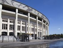 Moscow big sports arena Stadium Luzhniki Olympic Complex -- Stadium for the 2018 FIFA World Cup in Russia Royalty Free Stock Photography