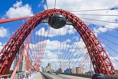 Moscow bildmässig bro Arkivbilder