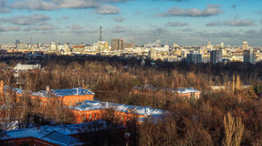 Moscow bird-fly view Stock Photos