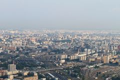 Moscow from a bird`s-eye view royalty free stock photography