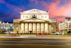 Moscow - Bolshoi theater at sunset royalty free stock image