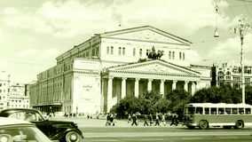Moscow The Bolshoi Theatre building 1962 Royalty Free Stock Photos