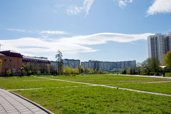 Moscow boulevard in residential area Stock Images