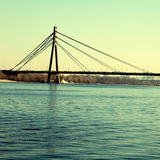 Moscow bridge across Dnepr river, Kiev, Ukraine Stock Photo