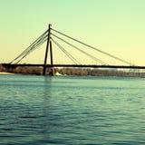 Moscow bridge across Dnepr river, Kiev, Ukraine Stock Photo