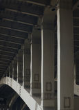 Moscow bridge Andreevski. Over the river 2014 Royalty Free Stock Images