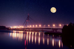 Moscow bridge in Kiev Royalty Free Stock Photography