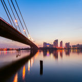 Moscow bridge in Kiev at night Royalty Free Stock Images