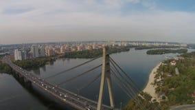 "The ""Moscow"" Bridge, Kiev, Ukraine stock footage"