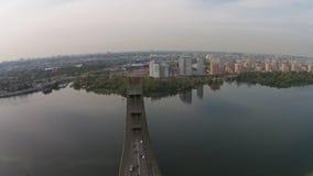"""The """"Moscow"""" Bridge, Kiev, Ukraine stock video"""