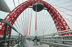 Moscow bridges falling down Royalty Free Stock Photography