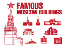 Moscow Buildings Icons Royalty Free Stock Photos