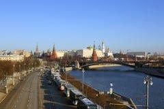 moscow Bulwary Moskwa po południu 2005 obszaru czerwonym Kremla lato obraz stock