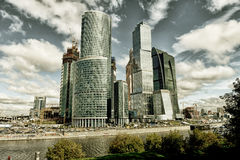 Moscow business center. Moscow modern business center Delovoi mir taken August 2012 Royalty Free Stock Photos