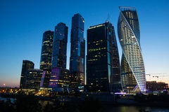 Moscow Business Center Moscow-Sity stock image