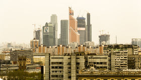 Moscow Business Center with skyline Stock Photography