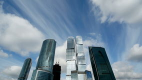 Moscow business center stock video