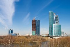 Moscow Business Center under construction Stock Photos