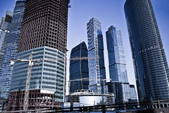 Moscow business centre Royalty Free Stock Image
