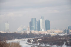 Moscow business centre Royalty Free Stock Images