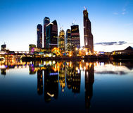 Moscow business centre at evening Stock Photography