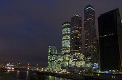 Moscow, business centre Moscow-city Stock Photos