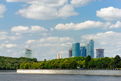 Moscow business city Stock Photography