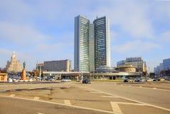 moscow Byggnad på Novy Arbat Arkivbild