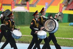 Moscow cadets. Stock Photos